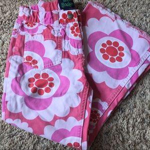 Mini Boden Pink floral Jeans, 5-6
